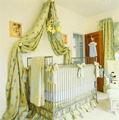 I love this fairytale elegant look for a nursery.