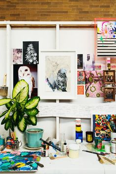 Cressida Campbell's Sydney studio. Photo - Sean Fennessy, production – Lucy Feagins / thedesignfiles.net