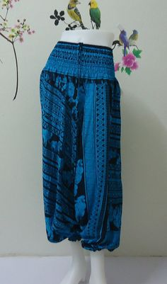 Hey, I found this really awesome Etsy listing at https://www.etsy.com/listing/192093295/blue-elephants-baggy-harem-pant-women