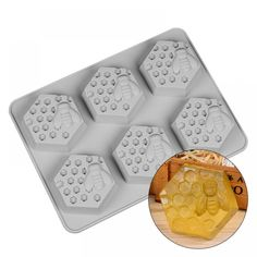 SILIKOLOVE Silicone Mold Bee Soap mold 6 cavity easy to Demolding Handmade Soap Craft For Diy Soap Maker Provide Customizable Resin Molds, Silicone Molds, Bee Honeycomb, Chocolate Candy Molds, Cake Chocolate, Soap Maker, Bee Design, Cake Decorating Tools, Diy Molding
