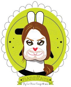 Richard Rabbëat* Rabbëats by La Chica Conejo ® 2014 All Rights Reserved Aphex Twin #aphextwin #syro #yourock #youcrazyspookysmileever #camafeos #cameos #rings #tshirts #personajes #anillos #totebags #rabbeatsbylachicaconejo