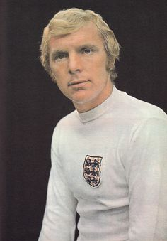 February 1973. A portrait of West Ham United captain Bobby Moore to celebrate his 100th cap for England against Scotland.
