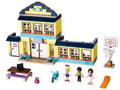 """""""Heartlake High School"""" This Lego Friends set is so cute. My little sis got it for Christmas and we have been building a school for the Lego people all weekend!"""