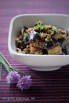 とろけるナスとひき肉のチリソース炒め|レシピブログ