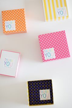 FREE printable thank you stickers & notecards