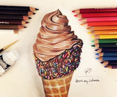 Ice Cream Drawing  By Safanah