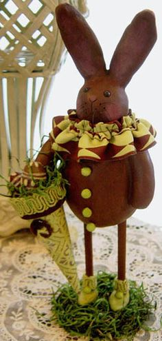 Chocolate bunny! I love this for an Easter Table Decoration