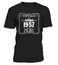 60th birthday 1957 Year of Perfection  #image #grandma #nana #gigi #mother #photo #shirt #gift #idea