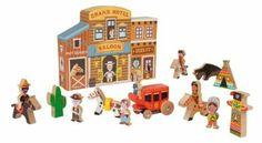 """Janod 4508526 - Gioco """"Mondo del Wild West"""", 15 Pezzi: Amazon.it: Giochi e giocattoli"""
