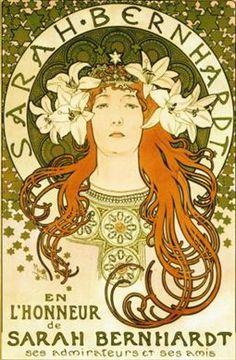 """Sarah Bernhardt"" - Alphonse Mucha, La Samaritaine, 1897. Bibliothèque nationale de France © Mucha Trust 2007"