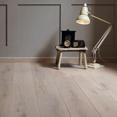 Coastline Seashell floor with round edge skirting and Pea Souper paint Wooden Flooring, Kitchen Flooring, Flooring Shops, Bedroom Wall Colors, Skirting Boards, Fired Earth, Floor Finishes, Wall And Floor Tiles, Modern Country