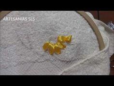 Toalla bordada en cintas ♥ Girasol ♥ Parte 2/4 - YouTube