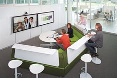 media:scape with HD videoconferencing - Could use two sections of this in my office, but not keeon on the round table and uncomfortable seating in front.