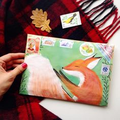 Snail Mail art - fox                                                                                                                                                                                 More