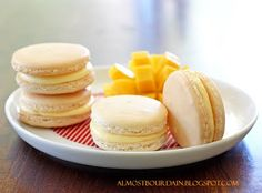 Coconut and Palm Sugar Macarons with Mango Buttercream