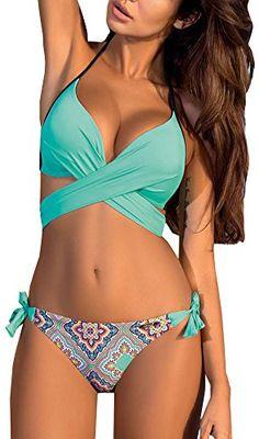 d95ebde99 Cheap bikini plus, Buy Quality bikini up directly from China bikini bikini  Suppliers: PLAVKY 2017 Sexy Aztec Halter Bandage Biquini Swim Wear Bathing  Suit ...