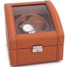 Genuine Tan Leather Double Watch Winder Bey Berk. $197