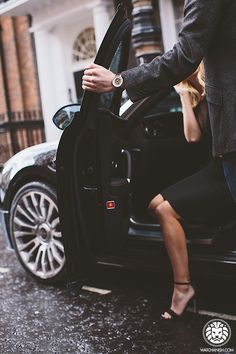 Open door for a woman. Always in style and perfect gentleman!