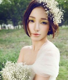The Korean bride bridesmaid hairstyle picture you can not think of romantic aestheticism