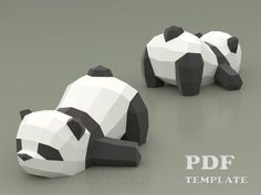 Papercraft Little Panda DIY Paper craft template PDF kit Paper Crafts Origami, Cardboard Crafts, Diy Paper, Sleeping Panda, Paper Bunny, Modelos 3d, Paper Animals, Paper Stars, Paper Models