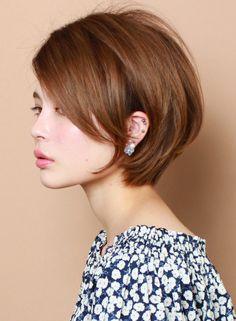 ☆カットで作る☆ツヤ感のある大人ショート(髪型ショートヘア)