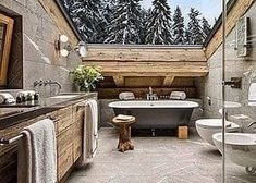 Amazing chalet design to your winter chalet. Elegance and refinement in every piece of choice that makes a simple environment, but at the same time unique and w Chalet Design, House Design, Villa Design, Design Hotel, Chalet Interior, Interior Design, Modern Interior, Condo Interior, Interior Shop
