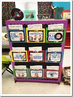 math games-I love the set up for choosing games or just assigning for a group of students to work at!! I want to be back in the classroom-does it show???