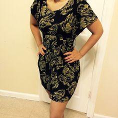 ELLE dress Good condition black with yellow design Elle Dresses