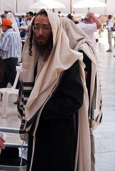 Time for prayer at the Wailing Wall. Jerusalem, Israel