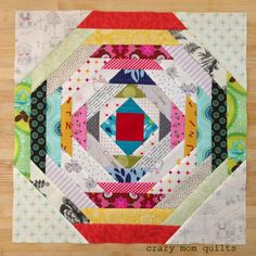 Pineapple Quilt Block | Pineapple Block Without Paper Piecing from Crazy Mom Quilts