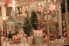 A Peppermint Christmas display.