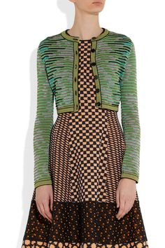 M Missoni - Cropped cotton-blend crochet-knit cardigan Love Fashion, Fashion Outfits, Womens Fashion, Fashion Design, Couture, Mixing Prints, Missoni, Knit Cardigan, Knitwear