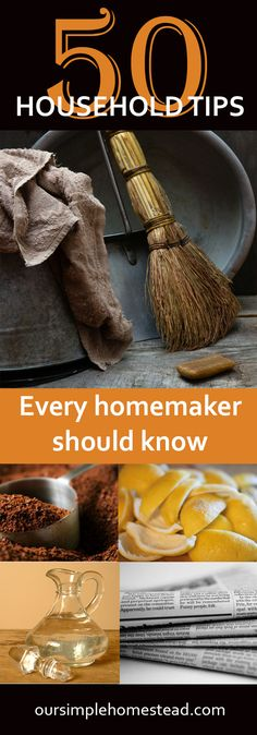 50 Household Tips Every Homemaker Should Know - Over the years I've collected hundreds of little household tips that make life easier that I just have to share. Some are silly and some are life savers but at the end of the day, I will try anything once.