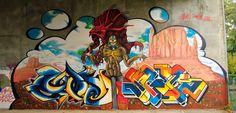 Lo sciamano! - Faenza, Ottobre 2011 - Louke + H3m0 + Spek     #streetart #faenza