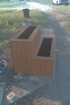 Planter box- what if bottom level was bench?
