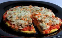 pizzeta de atún y champiñones