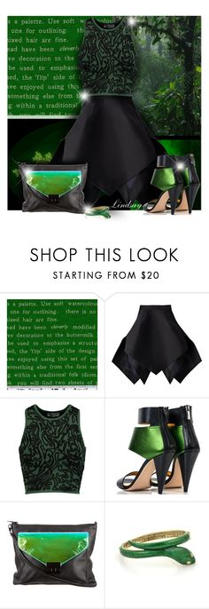 """Yojiro Kake - Origami Geometric Peacock Skirt Black"" by lindsayd78 ❤ liked on Polyvore featuring Yojiro Kake, Opening Ceremony, Kim Kwang and Loeffler Randall"