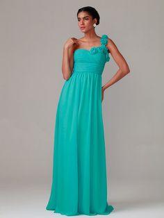 Rose Detailed One-shoulder Dress