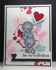 adorable elephants stamps