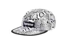 Supreme Nylon Soft Bill Snake Camp Cap