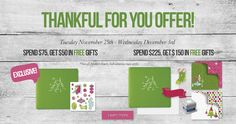Great offer just in time for the holidays!