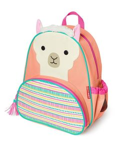 The SKIP*HOP Signature Zoo Backpack is an adorable carryall that holds your child's school supplies, toys and more. A mesh side pocket is ideal for holding a juice box or water bottle, and the roomy interior fits notebooks, a lunchbox and more. Cute Backpacks, School Backpacks, Mochila Skip Hop, Skip Hop Zoo, Cute Llama, 5 Kids, Kawaii, Luxury Handbags, Fashion Backpack