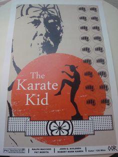 El cartel de la película de Karate Kid impresión