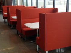 Here's another example of Monolite in one of our most popular configurations. Two high back sofas create an open ended booth - providing comfort, privacy and sound protection without seclusion. Find out more about Monolite here: http://hightoweraccess.com/product/monolite/