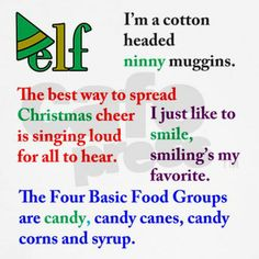 Buddy The Elf Funny Quotes | Elf the Movie Quotes Baseball Jersey by Admin_CP18632047