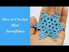 How to Crochet Mini Snowflakes (Free Crochet Pattern from Crafty Guild)