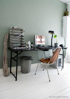 home office ideas and design for women girl men or boy, very apic Home Office Inspiration, Room Inspiration, Interior Inspiration, Office Ideas, Interior Ideas, Creative Inspiration, Room Colors, Wall Colors, Sweet Home