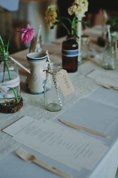 organic inspired reception, photo by Phil Chester http://ruffledblog.com/project-gallery-wedding #weddingreception #placesetting