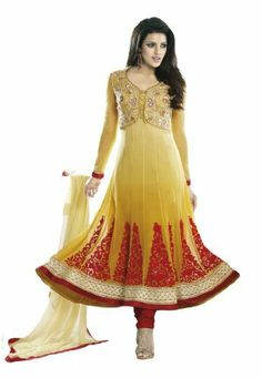 Fabdeal Women's Indian Designer Wear Embroidered Anarkali Suit Yellow Fabdeal, http://www.amazon.de/dp/B00GAPYM1M/ref=cm_sw_r_pi_dp_J69otb12X7W5A