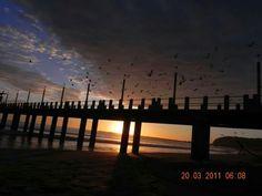 Sunrise at Ushaka Beach .. Moyos Pier ....
